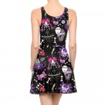 Halloween Ghost Party Pleated Summer Tank Dress