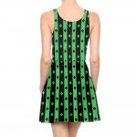 Venus Fly Trap Pleated Summer Tank Dress