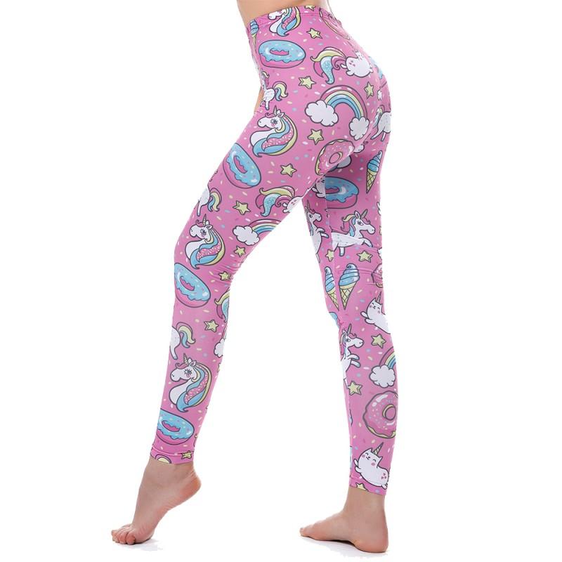 Unicorns Rainbows And Sweets Women's Leggings Printed Yoga