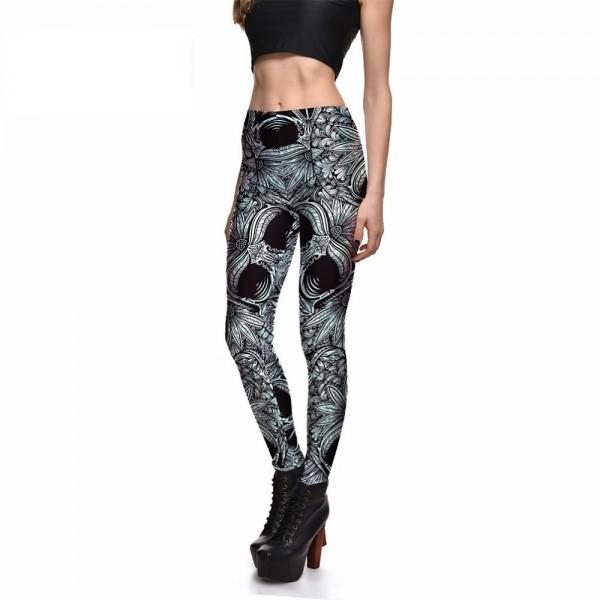 Ornamental Steel Women's Leggings Printed Yoga Pants Workout