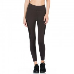 Black Cut Out Transparent Women's Leggings Printed Yoga Pants Workout
