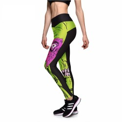 Big Eye Zombie Monster Halloween Women's Leggings Printed Yoga Pants Workout