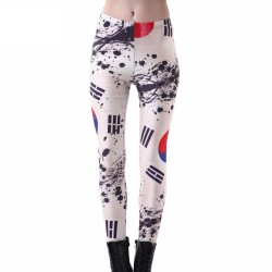 The Republic of Korea Flag Women's Leggings Printed Yoga Pants Workout