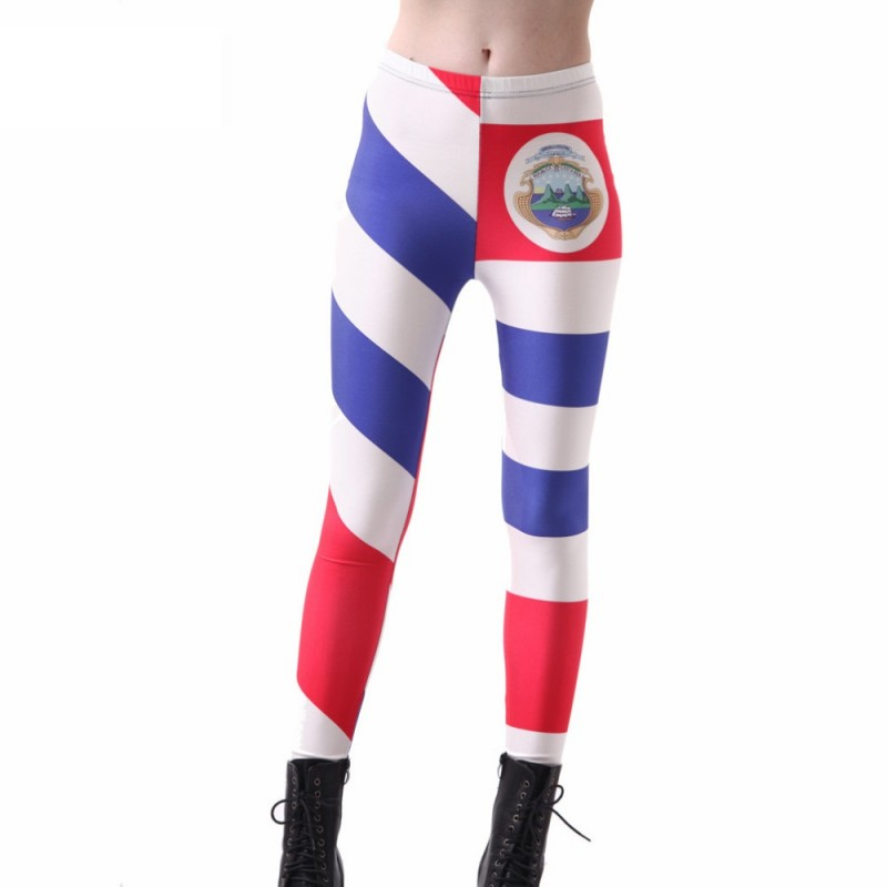 Costa Rica Flag Women s Leggings Printed Yoga Pants Workout caccfb138b1