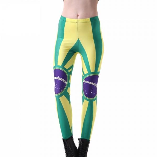 Brazilian Flag Women's Leggings Printed Yoga Pants Workout