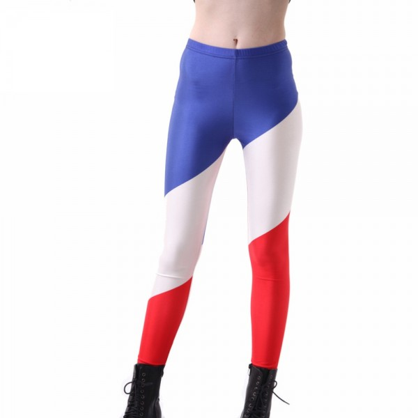 French Flag Large Women's Leggings Printed Yoga Pants Workout