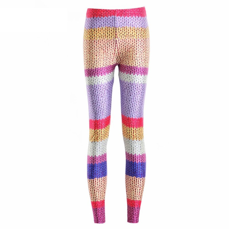 238d1d1386cdc Knitted Sweater Women's Leggings Printed Yoga Pants Workout