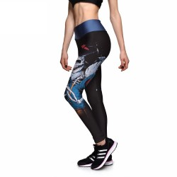 Snow White Skeleton Women's Leggings Printed Yoga Pants Workout