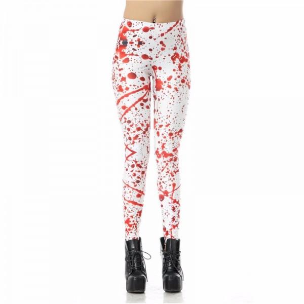 Blood Spatter Halloween Women's Leggings Printed Yoga Pants Workout