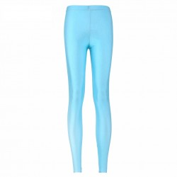 Light Blue Women's Leggings Printed Yoga Pants Workout