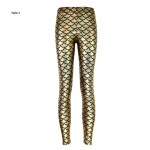 Metallic Mermaid Women's Leggings Printed Yoga Pants Workout