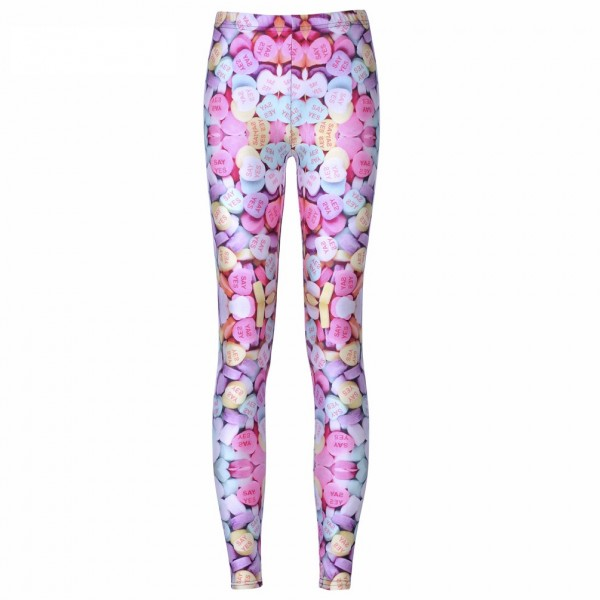 Candy Hearts Women's Leggings Printed Yoga Pants Workout