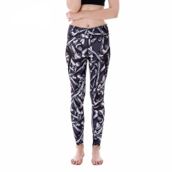 Bones with Black Mesh Lines Women's Leggings Printed Yoga Pants Workout