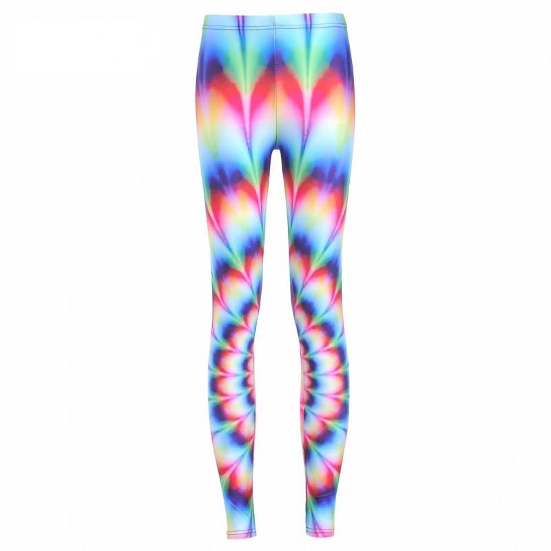 dc9a2eb2dc925 Rainbow Tie-Dye Women's Leggings Printed Yoga Pants Workout