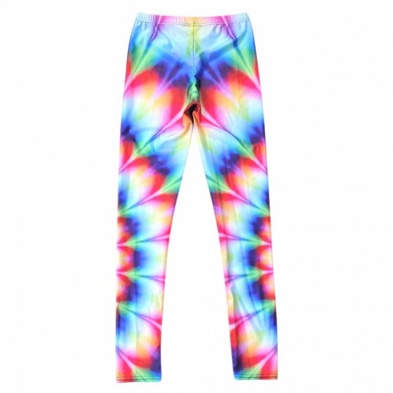 bb8a0f0cd5 Rainbow Tie-Dye Women's Leggings Printed Yoga Pants Workout