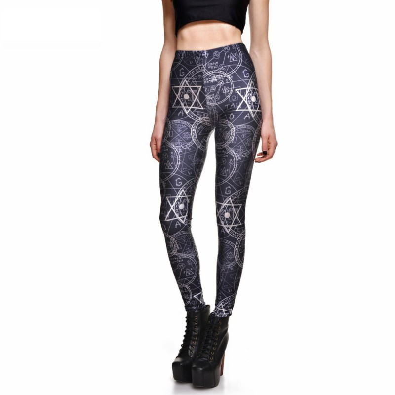 0ac6b96cf31a9 Witchcraft Women's Leggings Printed Yoga Pants Workout