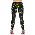 Cat Smile Women's Leggings Yoga Workout Capri Pants