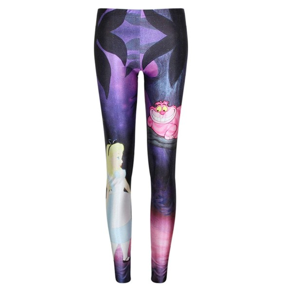 Alice in Wonderland Cheshire Cat Women's Leggings Yoga Workout Pants
