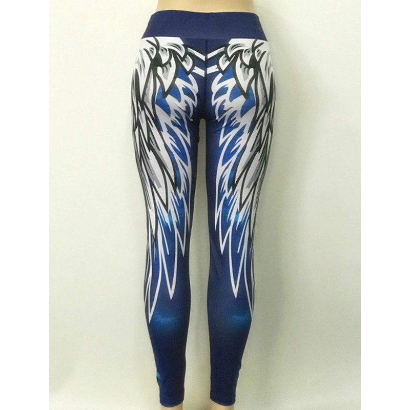 d7651c3a0a Angel Wings Women's Leggings Printed Yoga Pants Workout Activewear