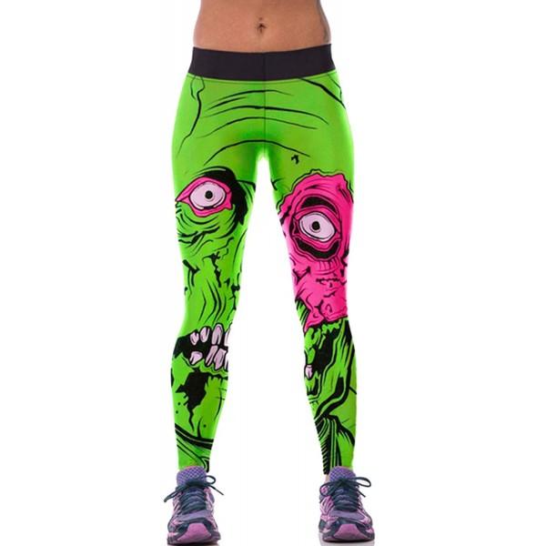 Big Eye Zombie Monster Halloween Women's Leggings Printed Yoga Pants Workout