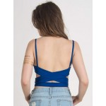 Bandage Strappy Blue Bralette - Crop Top - Tank Top