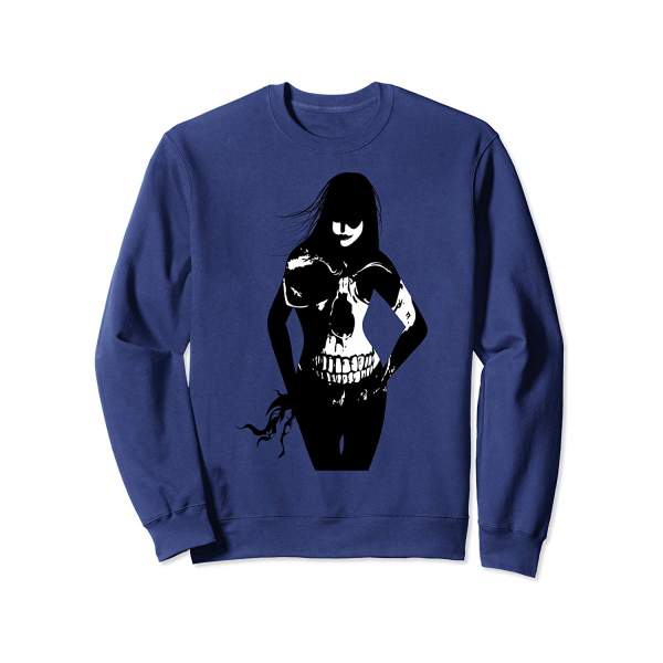 Black Magic Girl with Skull Sweatshirt