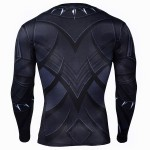 Black Panther Civil War Long Sleeve Men's Compression Shirt
