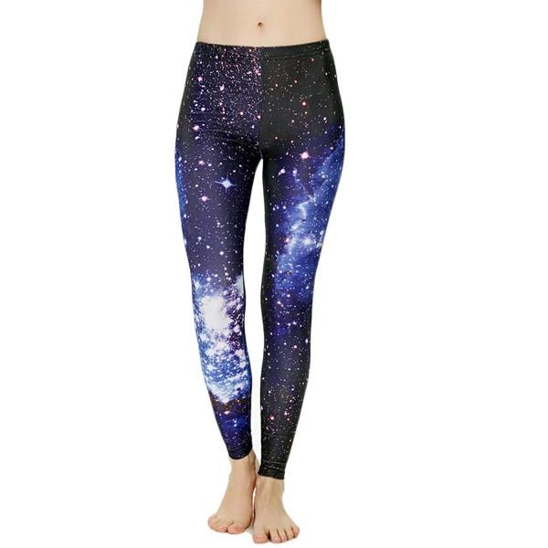 Blue Galaxy Activewear Women's Leggings Printed Yoga Pants Workout