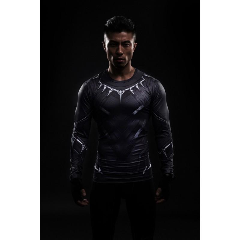 Black panther civil war long sleeve men 39 s compression shirt for Compression tee shirts for men