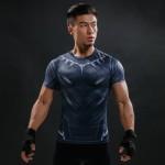 Black Panther Civil War Short Sleeve Men's Compression Shirt
