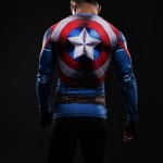 Captain America Long Sleeve Men's Compression Shirt
