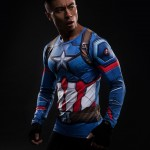 Captain America Long Sleeve Men's Compression Shirt