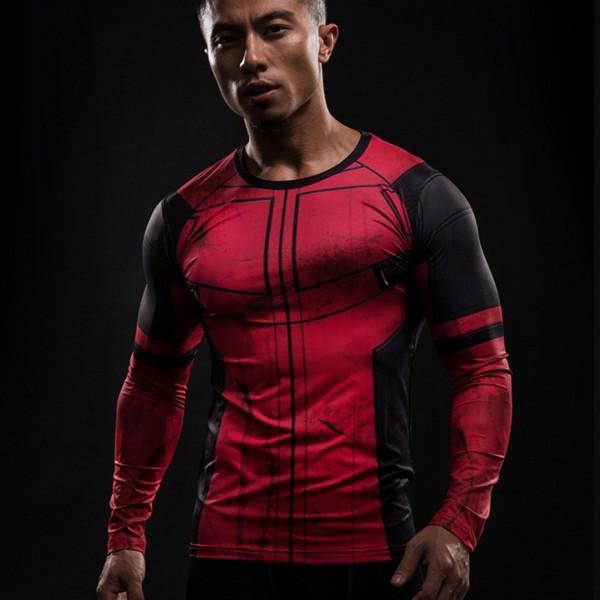 Deadpool Long Sleeve Men's Compression Shirt