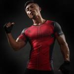 Deadpool Short Sleeve Men's Compression Shirt
