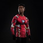 Iron Man Civil War Long Sleeve Men's Compression Shirt