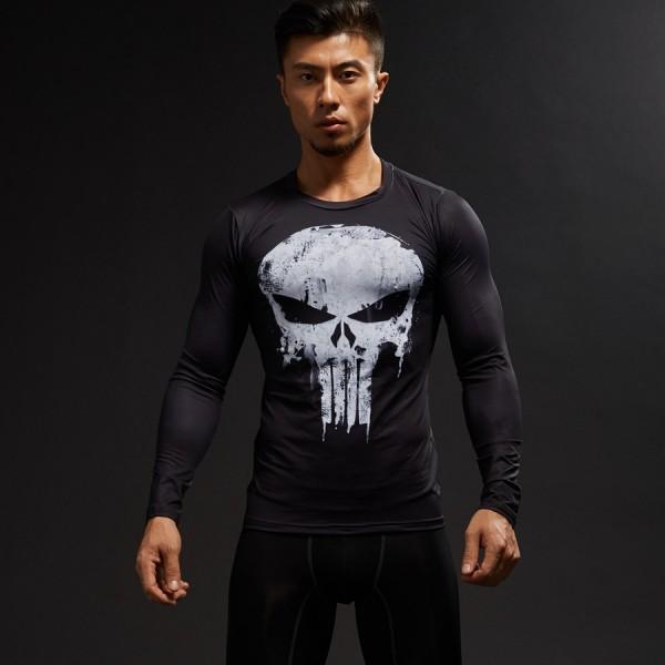 Punisher Long Sleeve Men's Compression Shirt
