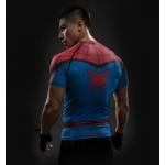 Spiderman Raglan Short Sleeve Men's Compression Shirt