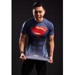 Superman Raglan Short Sleeve Men's Compression Shirt