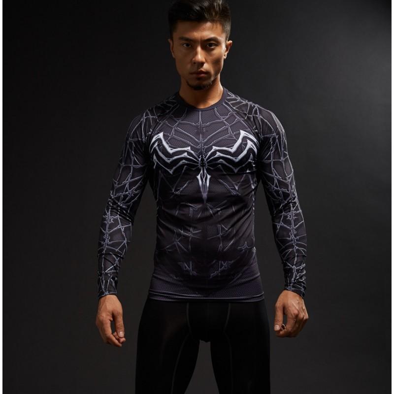 Venom raglan long sleeve men 39 s compression shirt for Compression tee shirts for men