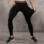 Solid Colors Men's Leggings Compression Tights Workout Bodybuilding Fitness