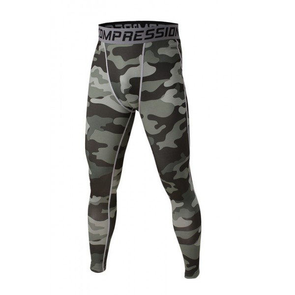 Shades of Gray Camouflage Men's Leggings Compression Tights Workout Bodybuilding Fitness