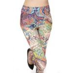 Colorful Paisley Women's Leggings Yoga Workout Capri Pants