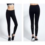 Diagonal Black or White Mesh Women's Leggings Yoga Workout Capri Pants