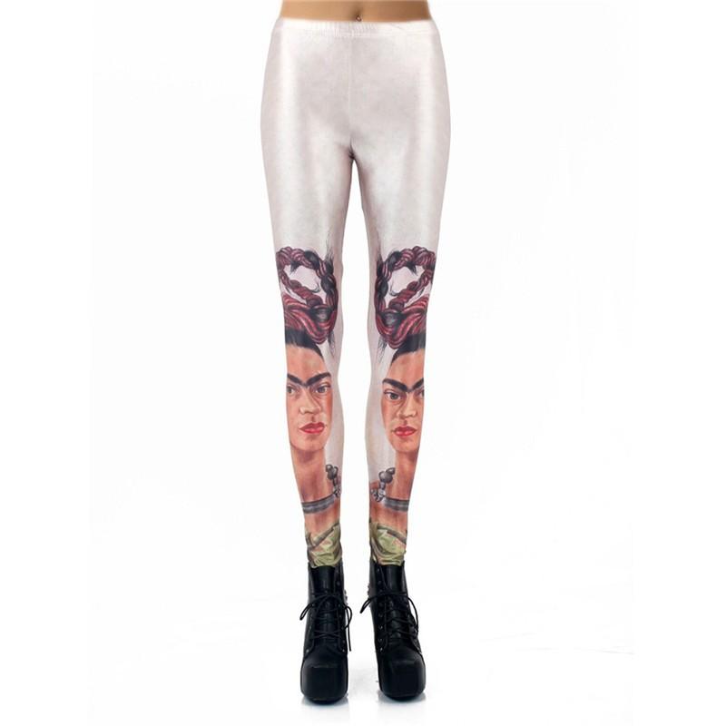 b213d128ea Frida Kahlo Spanish Women's Leggings Yoga Workout Capri Pants