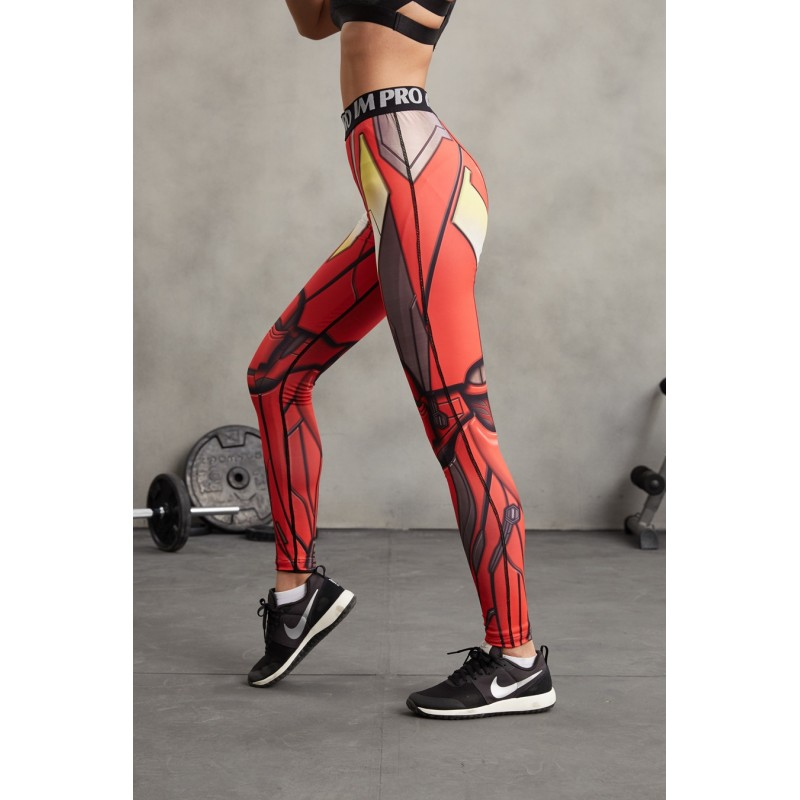 71aa994f1e05d Iron Man Women's Leggings Yoga Workout Capri Pants Compression Tights