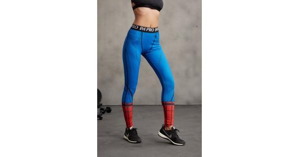 f536e13d9c Spiderman Civil War Women's Leggings Yoga Workout Capri Pants Compression  Tights