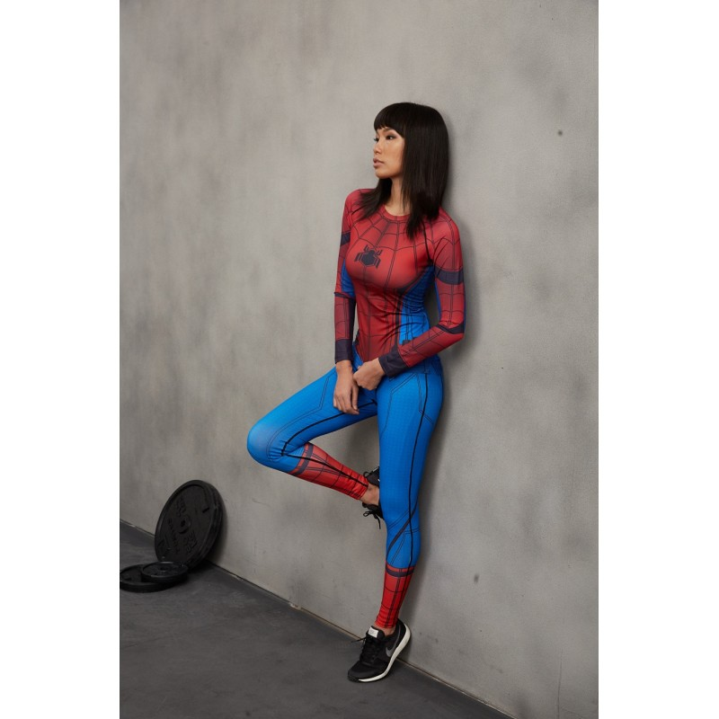 5afcae59dbfd3 Spiderman Civil War Women's Leggings Yoga Workout Capri Pants Compression  Tights
