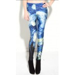Starry Night Van Gogh Art Women's Leggings Yoga Workout Pants