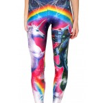 Unicorn vs Robo T-Rex Women's Leggings Printed Yoga Pants Workout