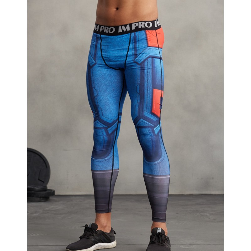 Captain America Men S Leggings Compression Tights